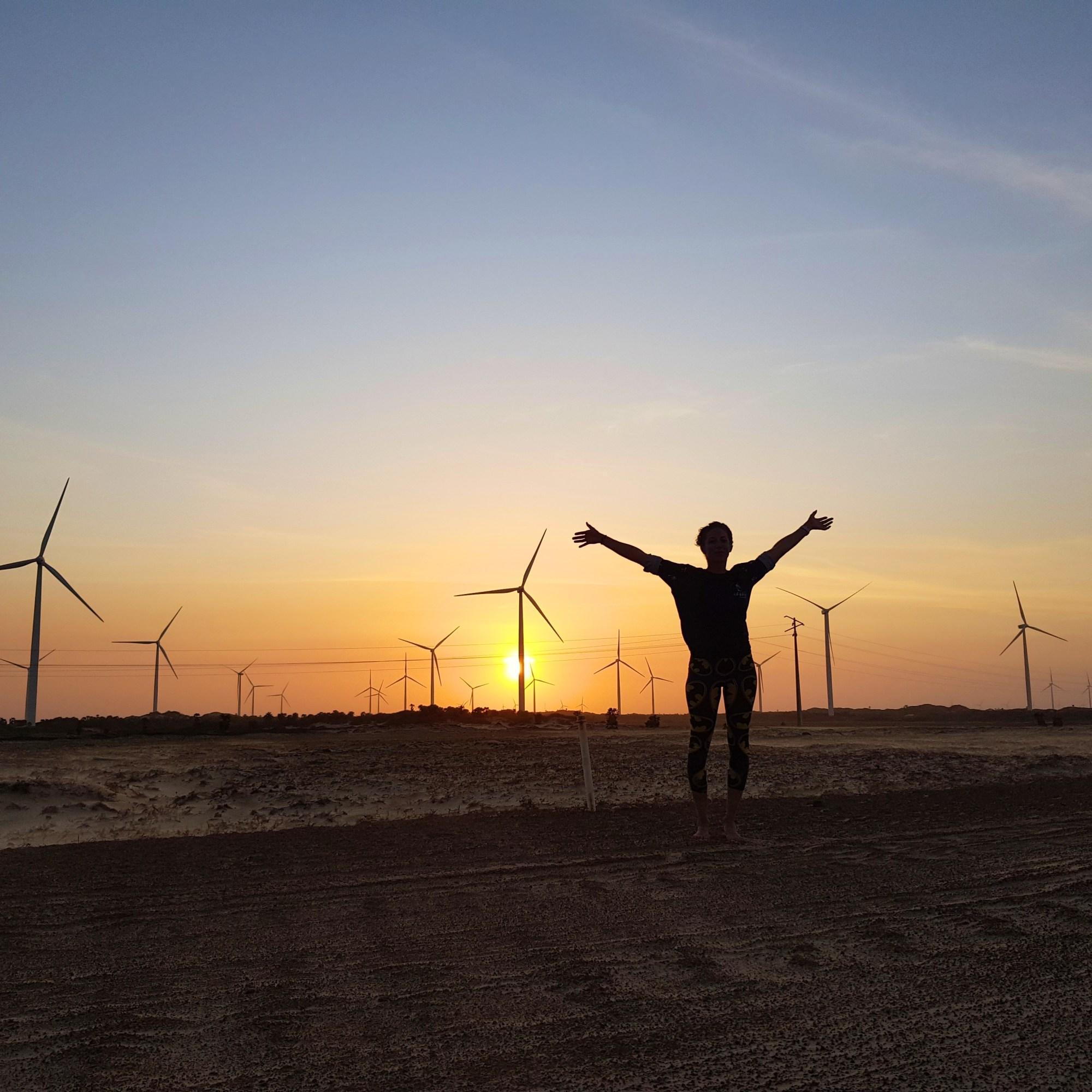Downind dans les éoliennes de Macapa, kitre trip Brésil