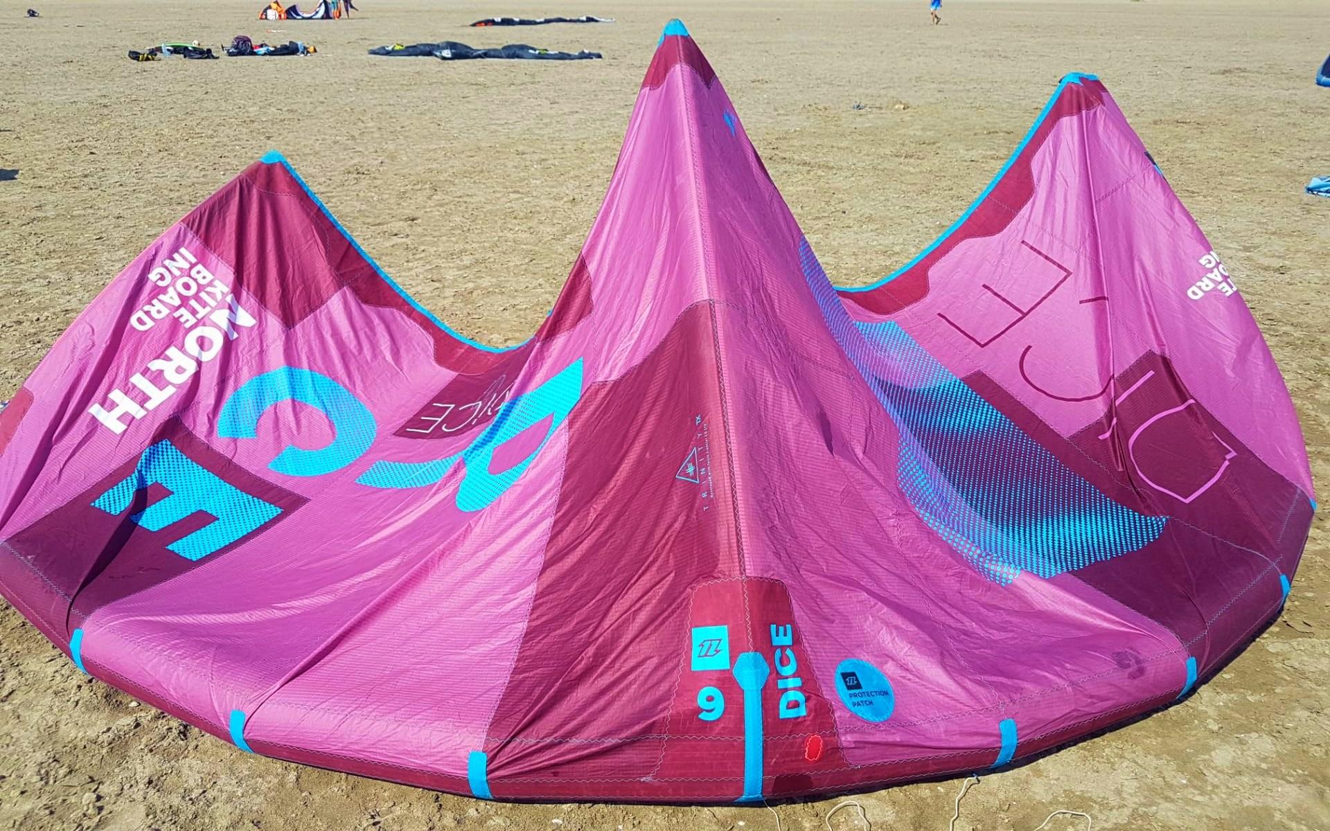 Test North Dice 2018, aile de kitesurf
