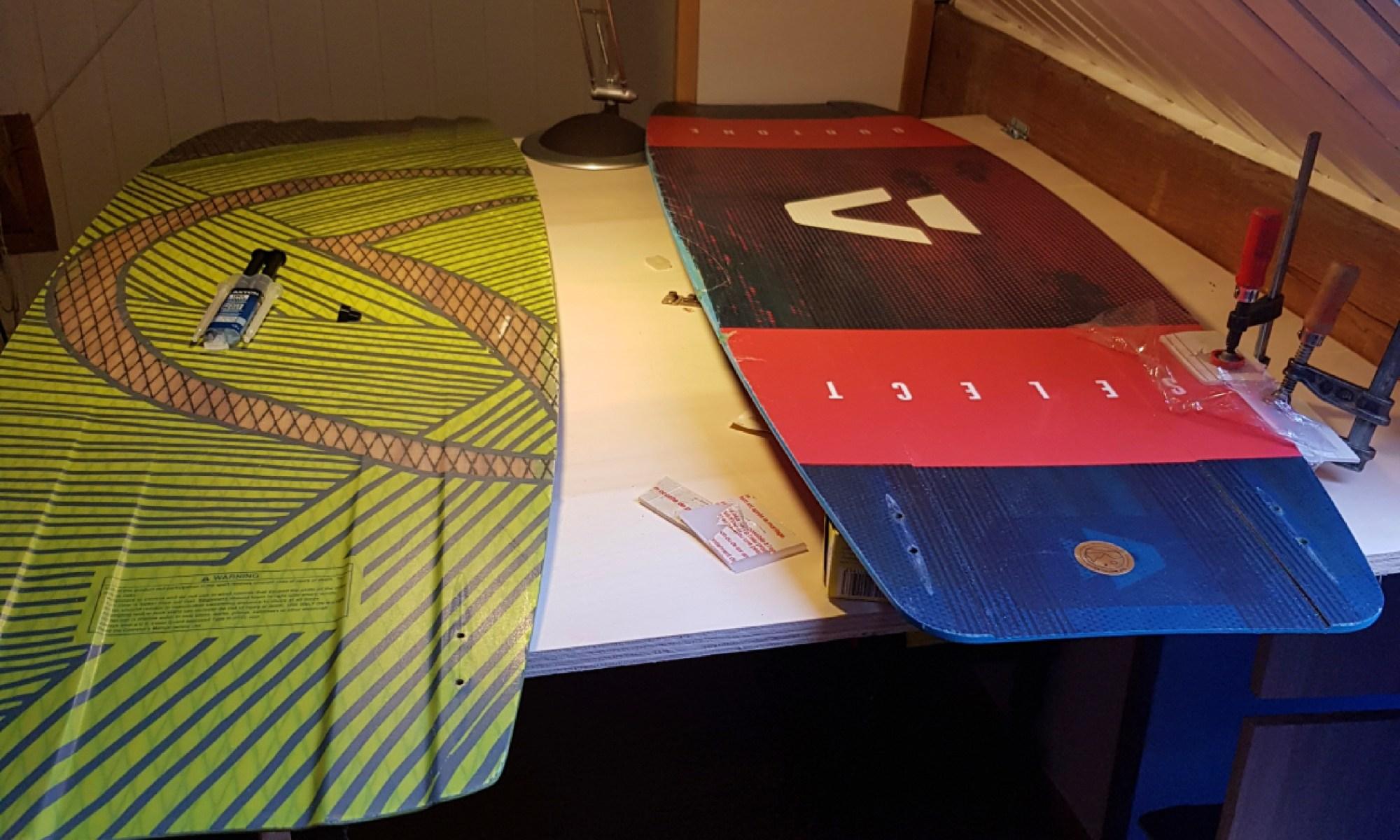 Réparation planche kitesurf et wake