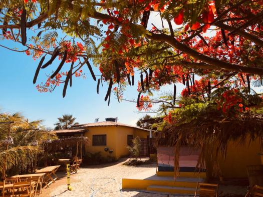Restaurant et entrée pousada Kiterinha, Macapa, kitetrip Brésil