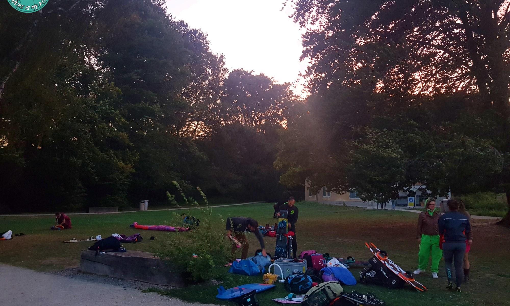 Spote de kite de Versoix, parc de la Bécassine, Genève, Suisse