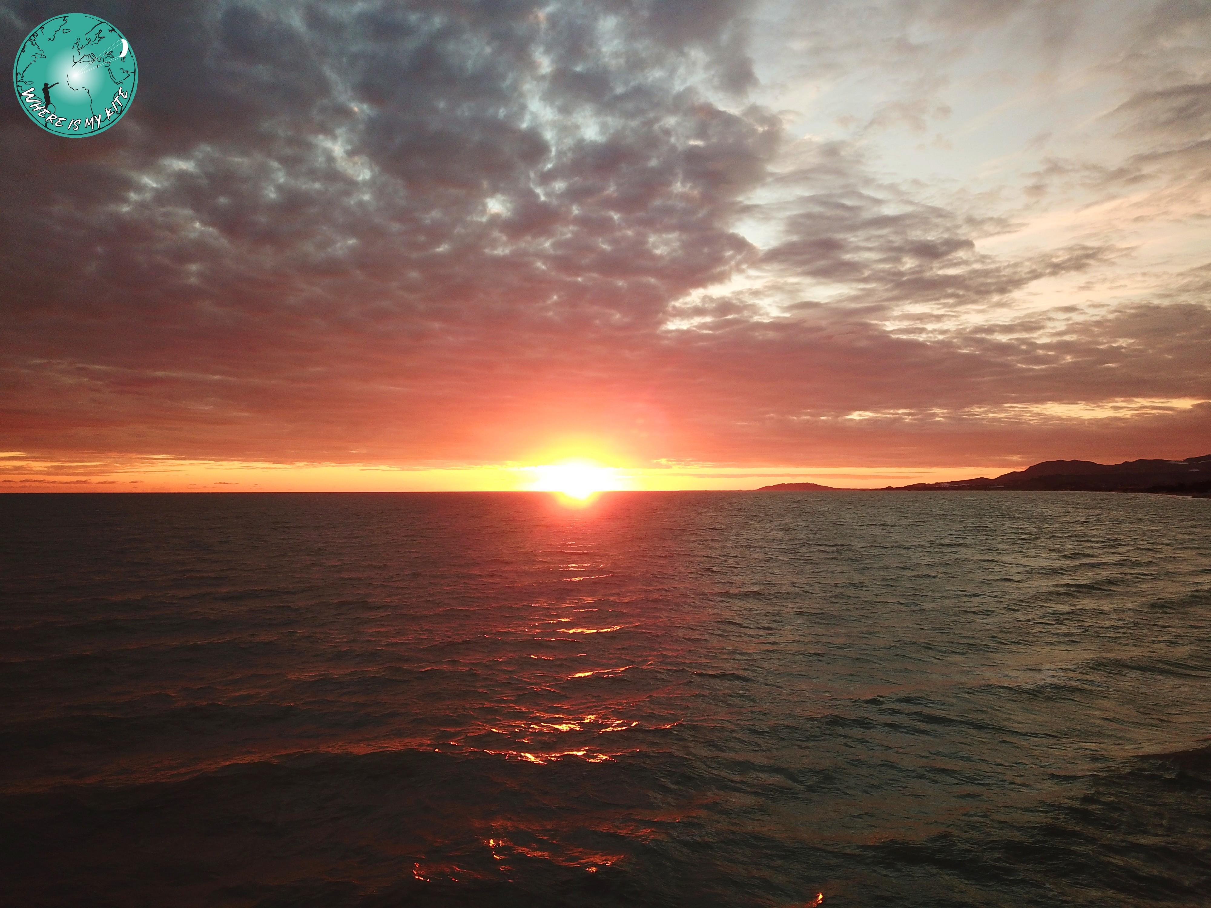 Sunset sur le magnifique spot de Manfria en Sicile