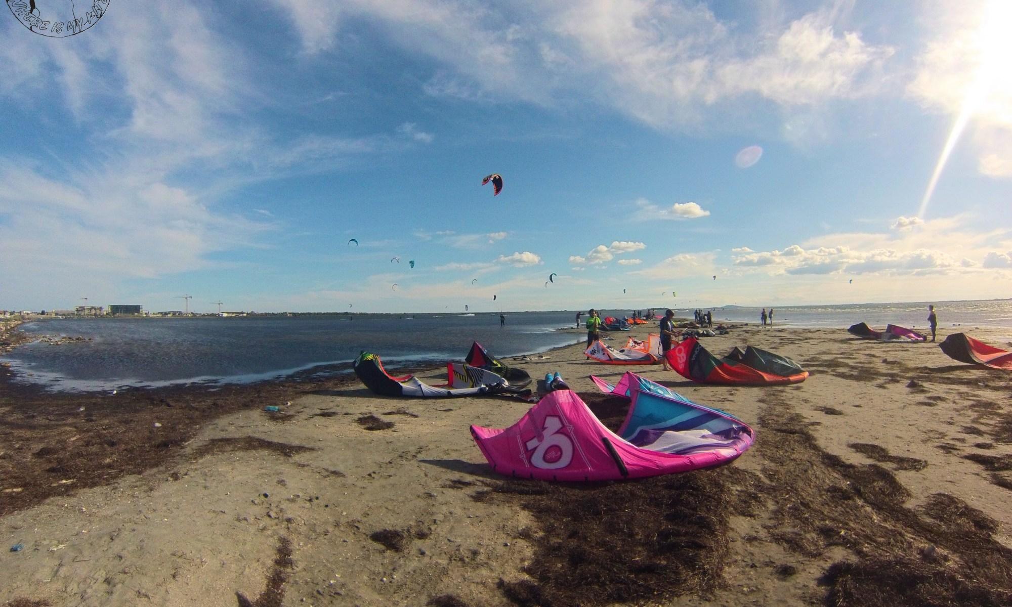 Spot de kitesurf de l'étang de Thau