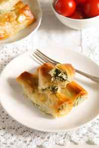 %name Crispy Albanian Spinach Rolls with Feta