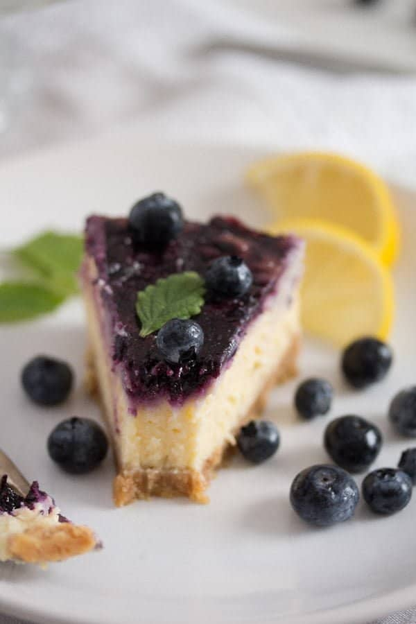blueberry cheesecake 11 Baked Blueberry Cheesecake with Lemon Curd