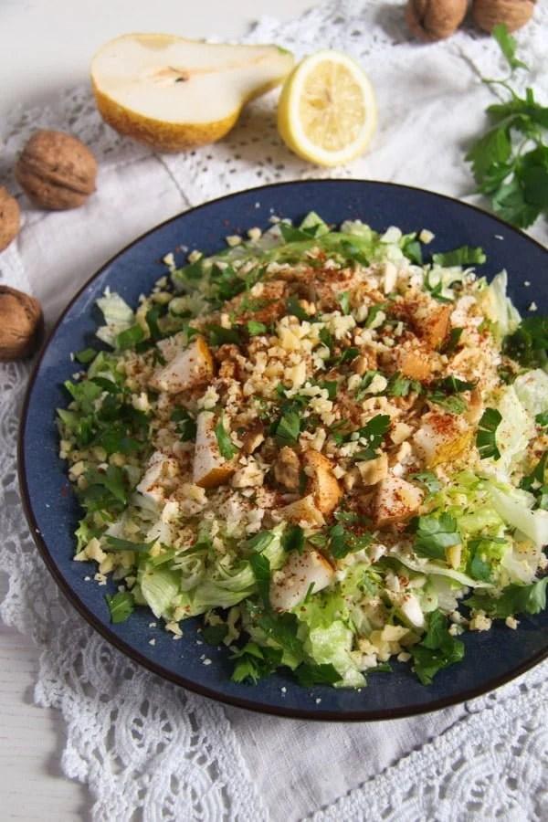 celeriac salad ed 2 Autumn Pear, Celeriac and Walnut Salad with Cheese