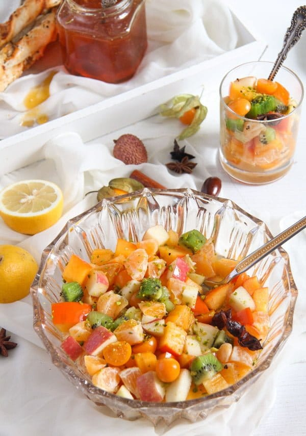fruit salad 2 Winter Fruit Salad with Cinnamon Star Anise Dressing