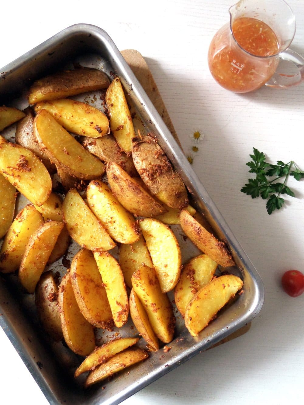 Potato Wedges with Sweet Chili Sauce
