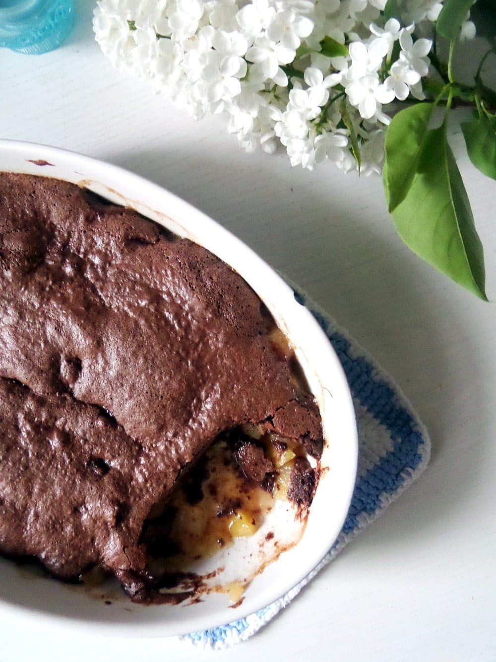 chocolate pears casserole Chocolate and Pear Casserole