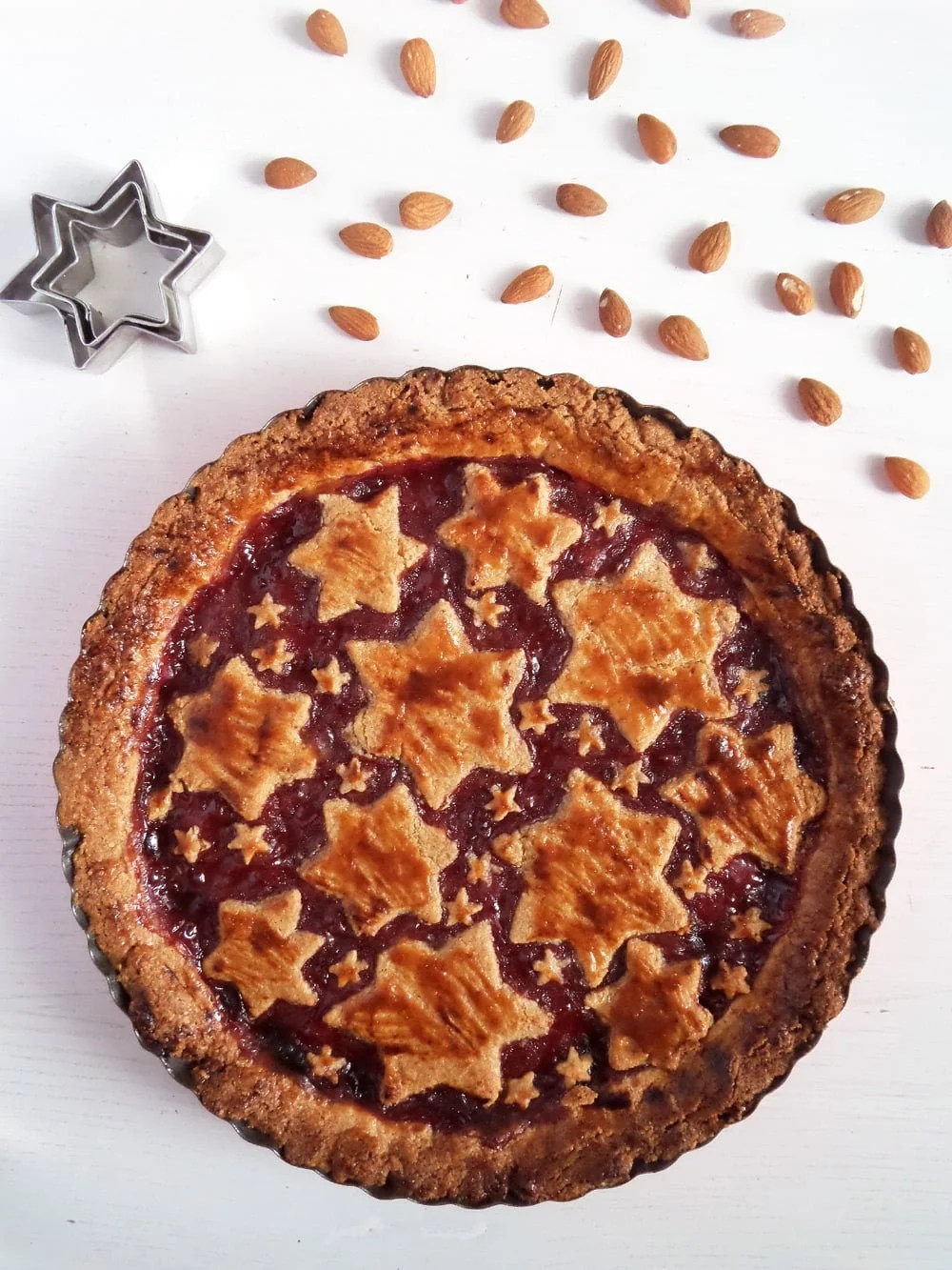 linzer torte jam Austrian Linzer Torte with Almonds and Redcurrant Jam