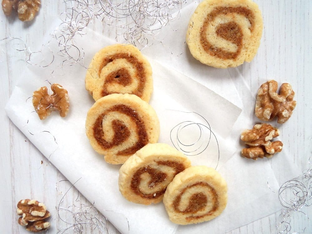 walnut rolls cookies German Walnut Marzipan Cookies