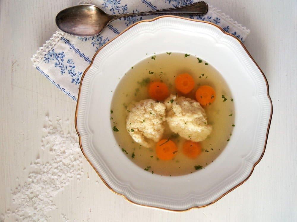 chicken stock dumplings How to Make Chicken Stock and Romanian Semolina Dumpling Soup
