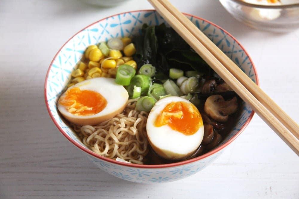 dashi ramen How to Make Dashi and Ramen Soup with Mushrooms and Wakame