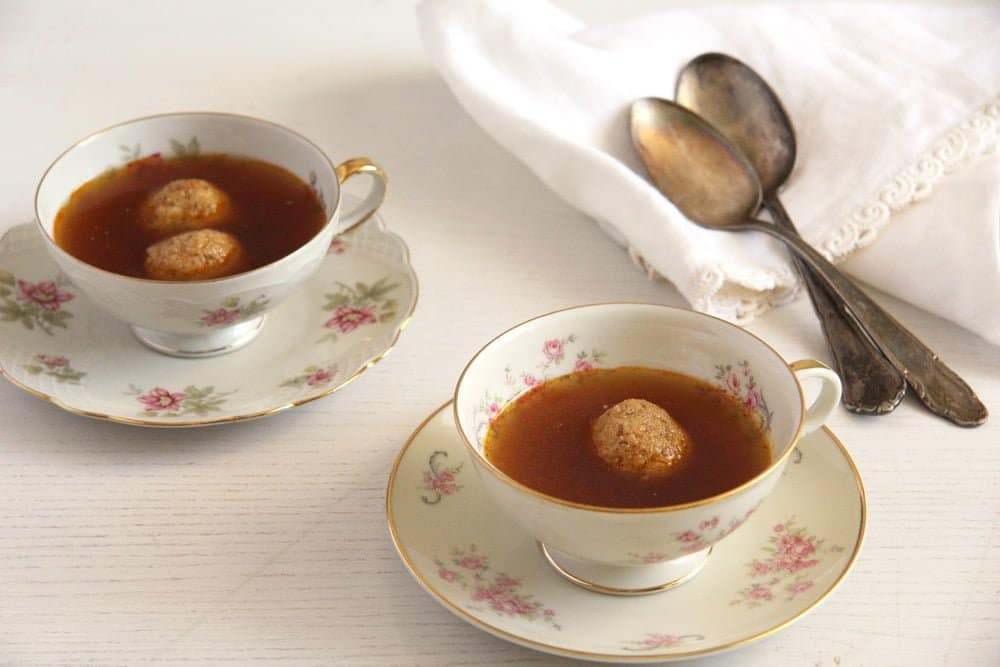 vegetable stockc How to Make Roasted Vegetable Broth and Hazelnut Dumplings