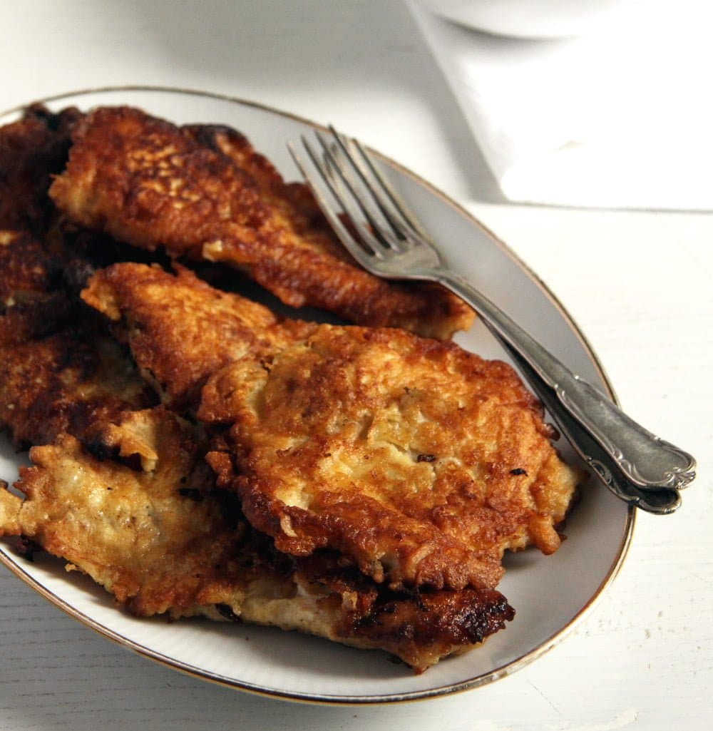 Chicken Schnitzel in Pancake Batter