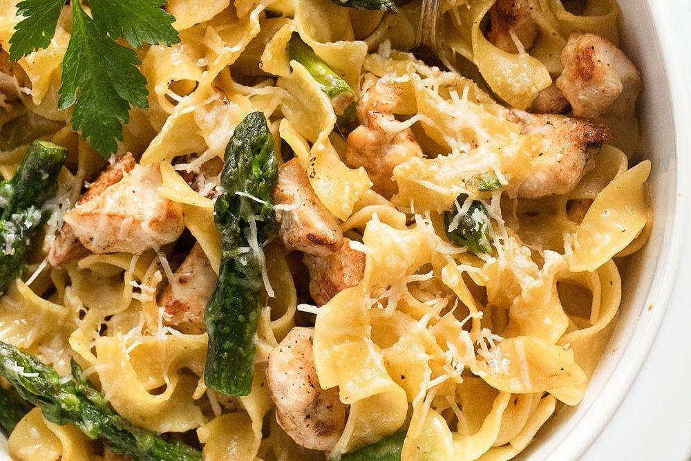 Asparagus Chicken Pasta Casserole