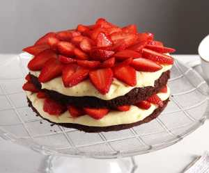 %name brownie strawberry pudding