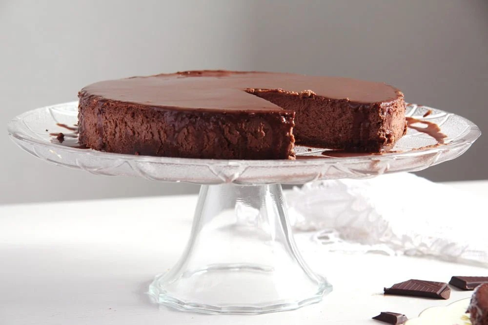 chocolate cheese cake Nigella Lawsons Chocolate Cheesecake with Sour Cream