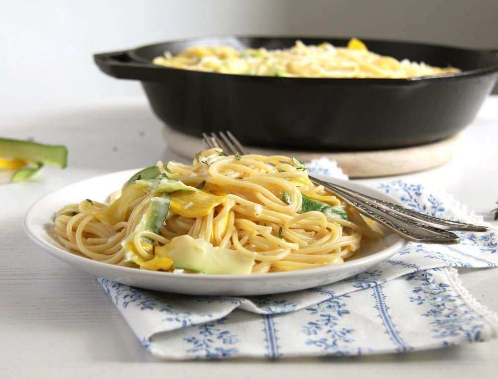 spaghetti zucchini Spaghetti with Spinach