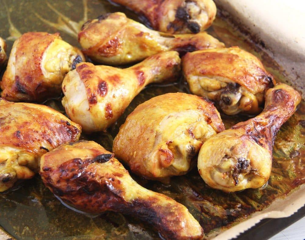 turmeric chicken Turmeric Chicken Legs with a Garlic Honey Glaze