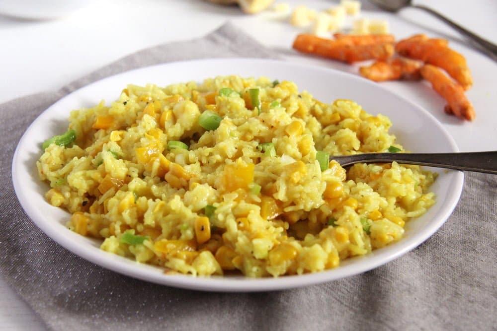turmeric rice golden Romanian Vegetable Rice