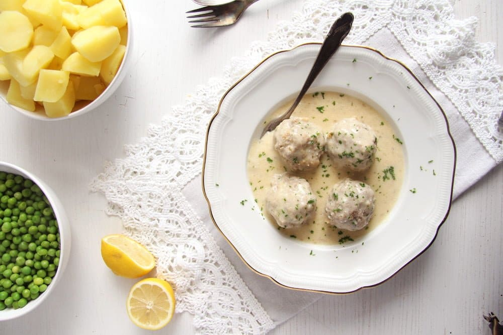 German Meatballs in Caper Sauce