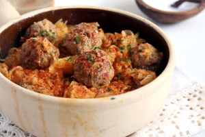 sauerkraut meatball romania 300x200 Romanian Stewed Cabbage
