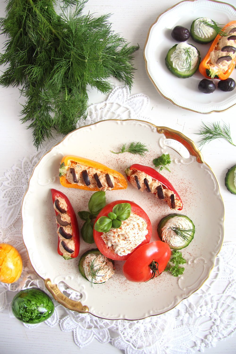appetizers stuffed tomatoes Cream Cheese Stuffed Vegetables