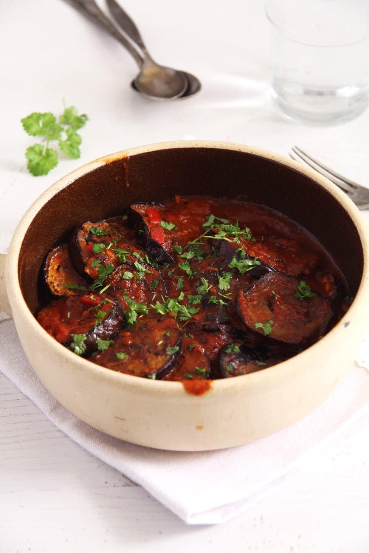 eggplants tomatoes Eggplants in Tomato Sauce