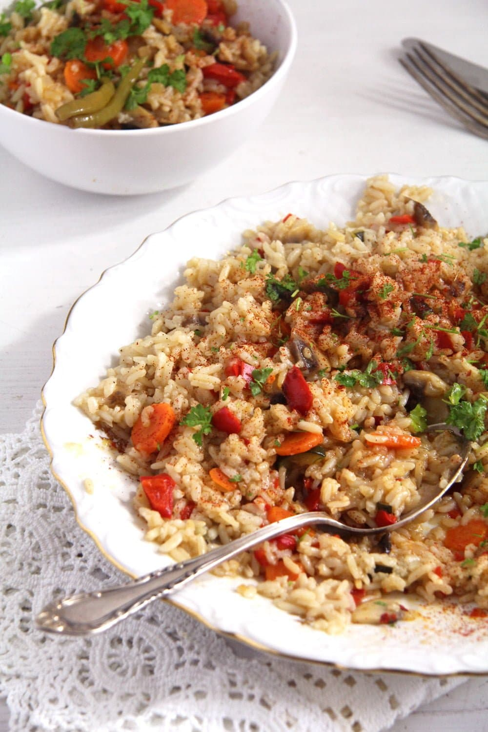 rice vegetable Romanian Vegetable Rice