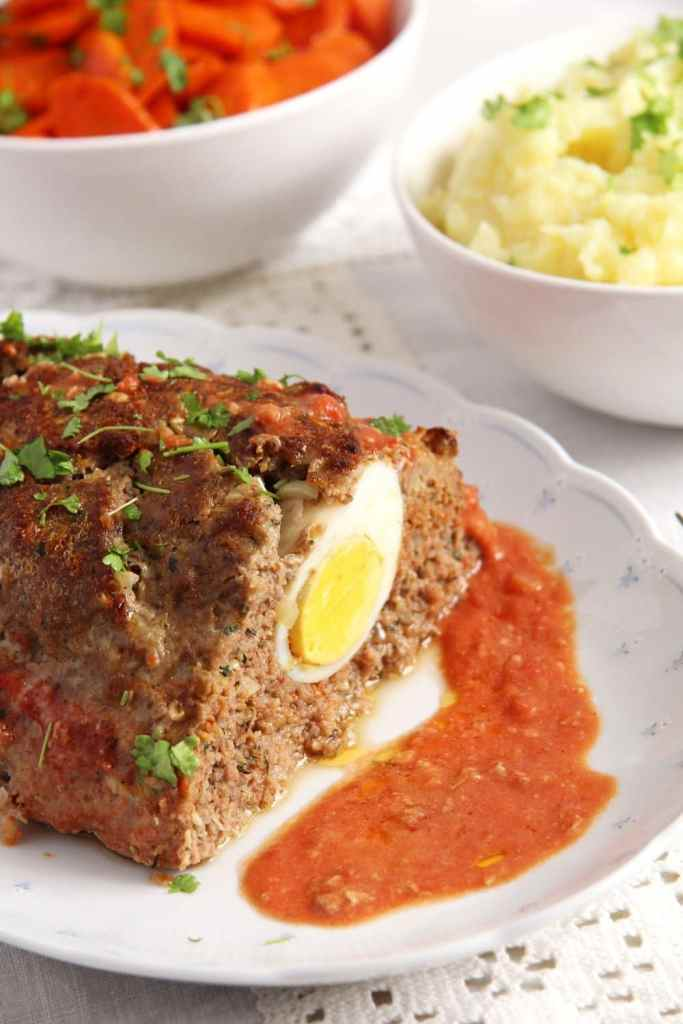 meatloaf 683x1024 Easy Beef Meatloaf with Hard Boiled Eggs
