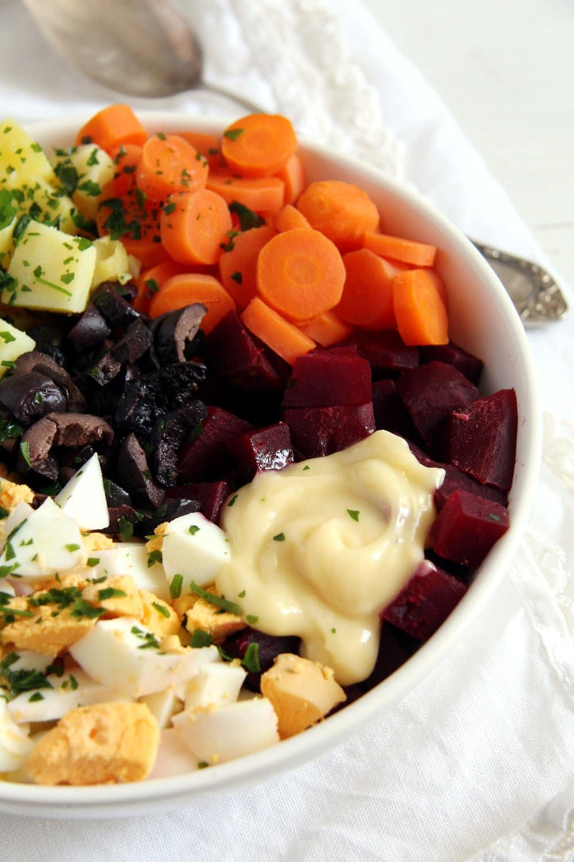 salad russe mayonnaise Salad à la russe