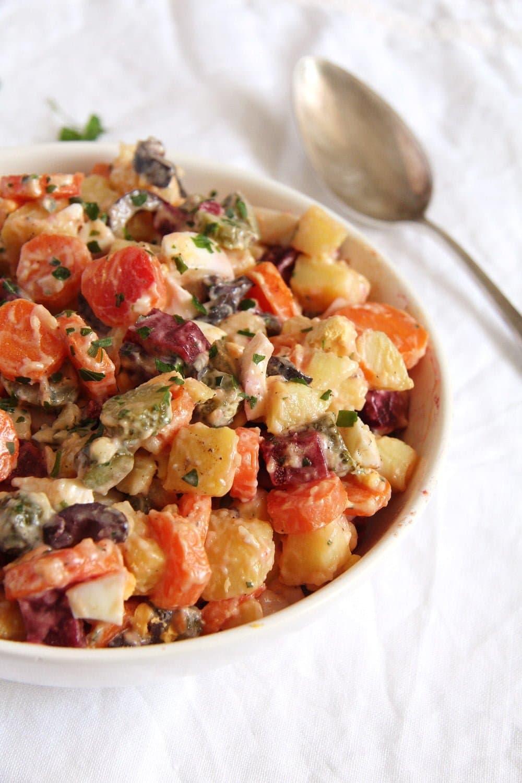salad russe potatoes Salad à la russe