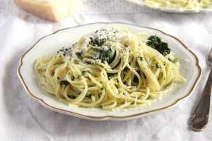 %name spaghetti spinach parmesan