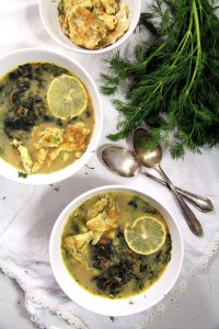 %name spinach soup eggs