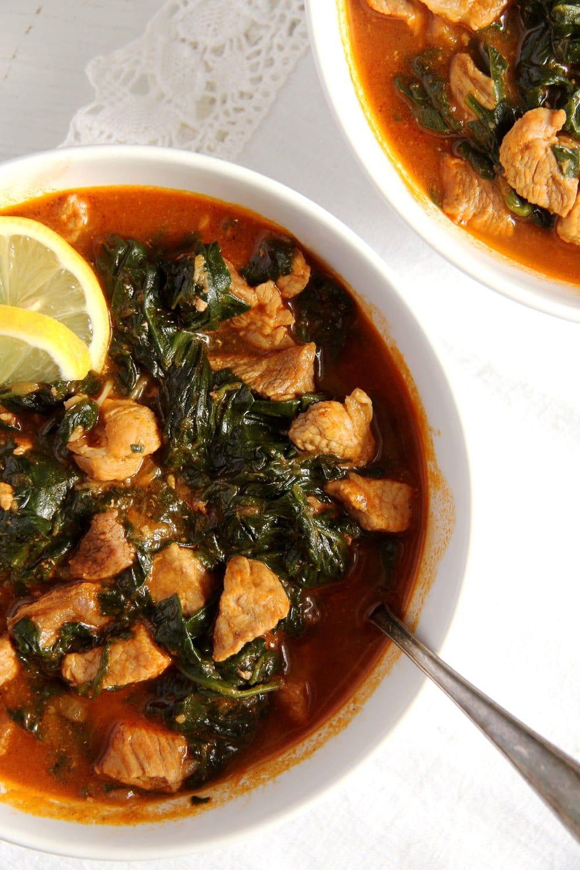 spinach stew pork Spinach and Pork Stew