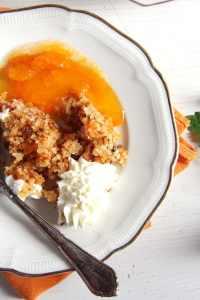 %name apricot dessert crumble