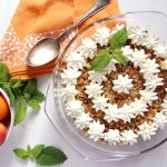 %name Apricot Crumble Dessert with Cake Scrapings