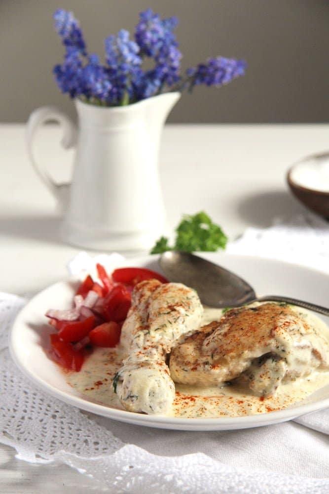 chicken cream romanian Chicken in Cream Sauce   Romanian Recipe