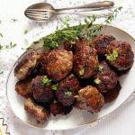 %name Beef and Pork Meatballs with Garlic and Herbs