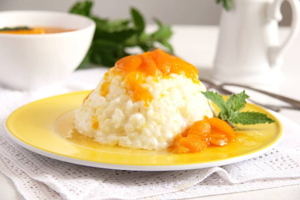 Rice Pudding with Apricot Sauce