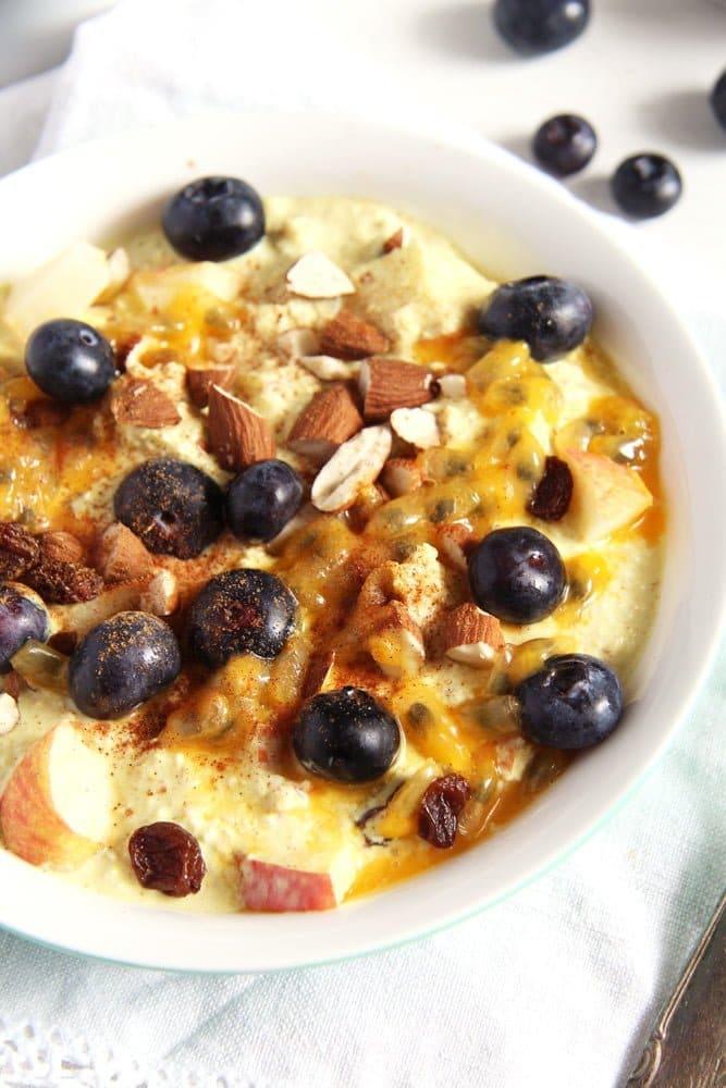 turmeric muesli apple Muesli with Yogurt, Berries and Turmeric Paste