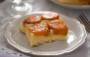 %name Upside Down Apricot Cake with Fresh Apricots