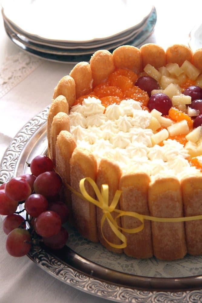 diplomat torte Fruit and Custard Charlotte   Romanian Diplomat Torte