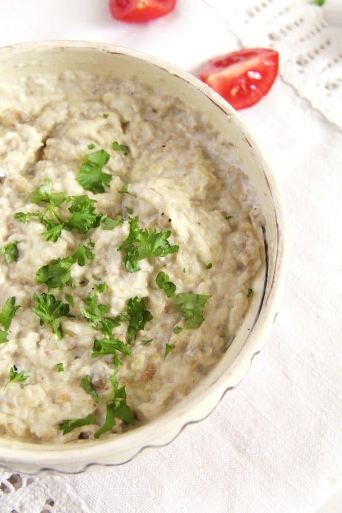 eggplant salad romanian Romanian Roasted Aubergine/Eggplant Salad   Vinete