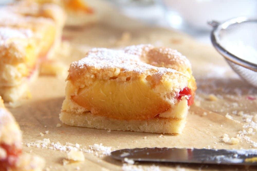 peach cake easy Easy Fresh Peach or Nectarine Cake   Romanian Cake Recipe