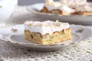 %name Rhubarb Meringue Cake