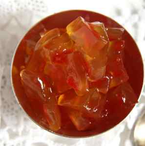 %name Watermelon Rind Jam or Candied Watermelon Rind in Syrup