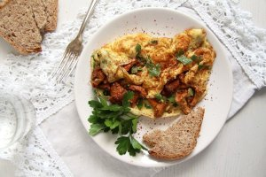 %name Easy Chanterelle Omelet with Thyme and Rosemary