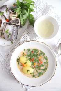 %name Fish Soup with Potatoes and Garlic Sauce
